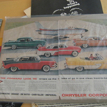 Vintage Chrysler Ad (1956) - Posters and Prints