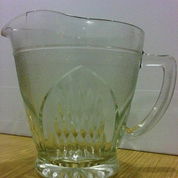 1950s Pressed Glass Jug - Glassware