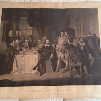 Engraving ,Shakespeare and friends 1859 through 60