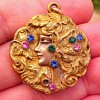 Pretty lady nouveau locket
