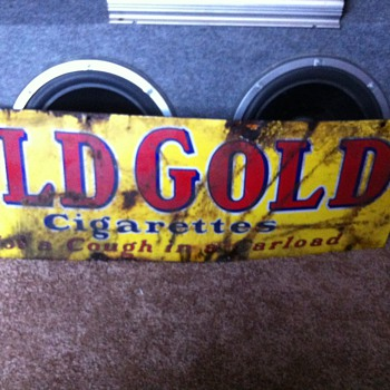 OLD GOLD 1930s SIGN  - Signs