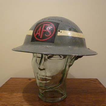 British WWII Auxiliary Fire Service steel helmet 1940 - Military and Wartime