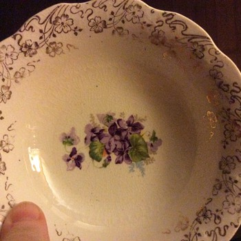 Unmarked Violet China - China and Dinnerware