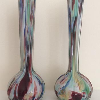 Welz découpage pair - Art Glass