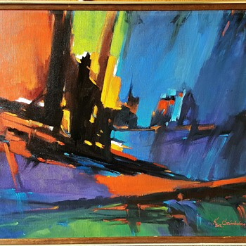 Kalman Szabo Czimbalmos Original Oil Painting