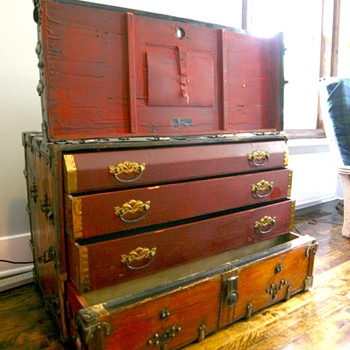 Antique Dresser Theatrical Trunk Kuntzendorf 1901