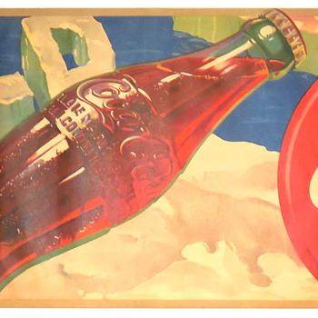 1941 Coca-Cola Fiber Banner