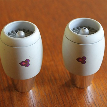 Thai Airlines Salt and Pepper Shakers