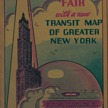 Map of the 1939 New York World's Fair, Compliments of Woolworth's