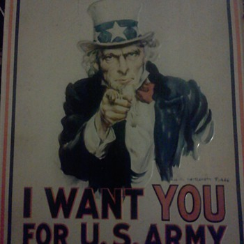 metal uncle sam sign