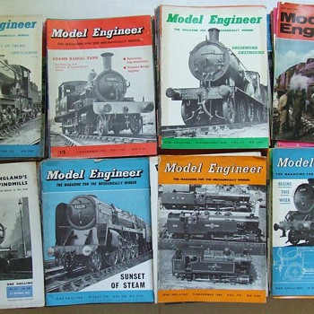 Estate Sale Find~Huge Lot of Old Model Engineer Magazines - Model Trains