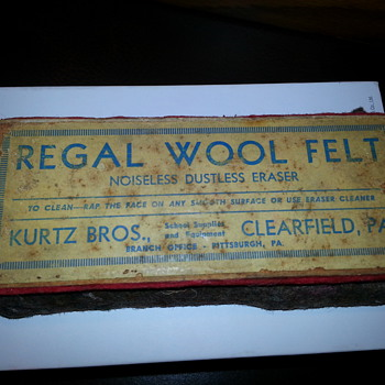 Kurtz Bros Regal Wool Felt Noiseless Dust Eraser - Office