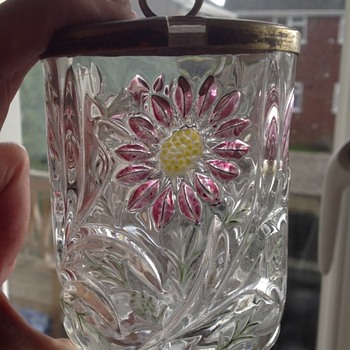 Art Nouveau glass jar/conserve pot