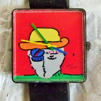 For HippieArchaeologist...... Peter Max Art Wristwatch - Wristwatches
