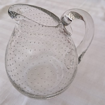 Gunnel Nyman creamer designed about  1947-1948 - Art Glass