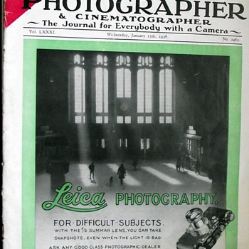 1936-the amateur photographer and cinematographer magazine. - Paper