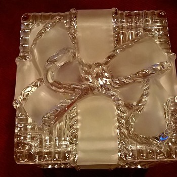 Retro Lead Crystal Gift Design Trinket Box Thrift Shop Find 1,50 Euro ($1.60)
