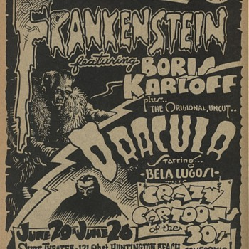 Rick Griffin Frankenstein Dracula Flyer very rare