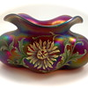 "Harrach lobed bowl with enameled decoration - the ""Tomato"" vase! UPDATE"