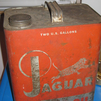 Jaguar motor oil can by lifetime company NY NY