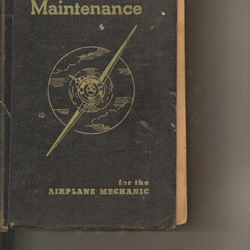 1940 Aircraft Maint. Book - Books