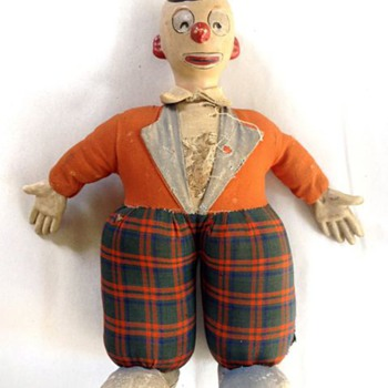 1930&#039;s Clown Doll - Dolls