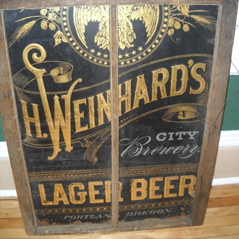 found! Vintage Beer Sign intrigues me - Signs