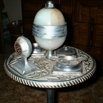 Lighted Smoking Stand - Art Deco