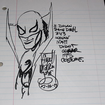 Comic art autographs part 13 - Comic Books