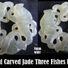 Jade - Three Carp Fish Pendent 