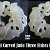 Jade - Three Carp Fish Pendent