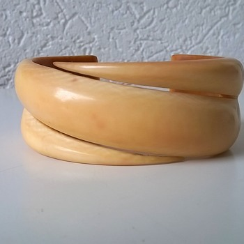 Art Deco Ivory (I think) Cuff Bracelet Thrift Shop Find 95 Cents