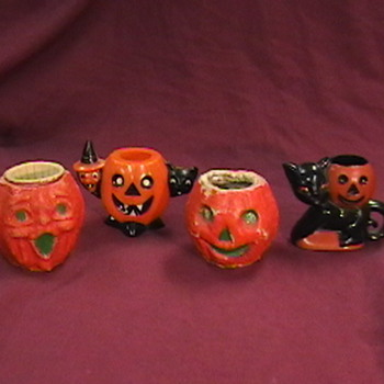 Vintage Halloween Candy and Nut Holders