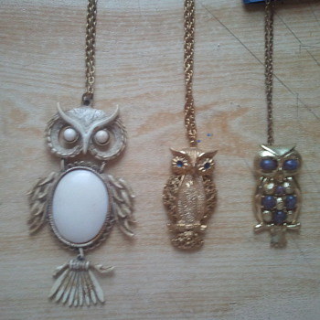 Costume Jewelry owl collection