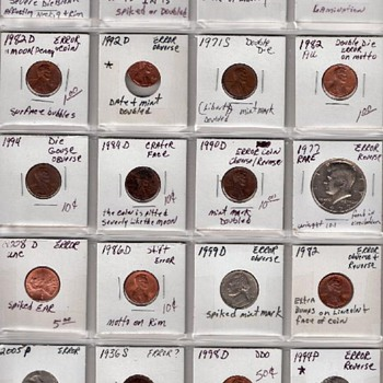 20 Coin Lot American Error Coins - US Coins