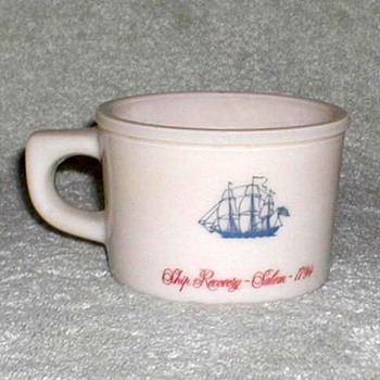 """Old Spice"" Milkglass Shaving Mug - Advertising"