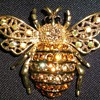 Rhinestone Bee Brooch/Pin