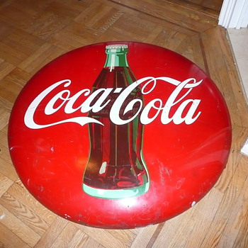1956 Coca Cola Bottle Bullseye Sign Huge  - Coca-Cola