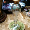 Heisey Glass etched Bud Vsse
