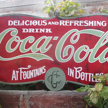 coca cola sign any information for this one please - Coca-Cola