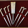 japanese gold plated silver toothpicks &water tray