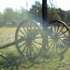 OX Log Hauler from late 1800s  Not sure if used earlier by military- Wheels show Moline Plow Co.