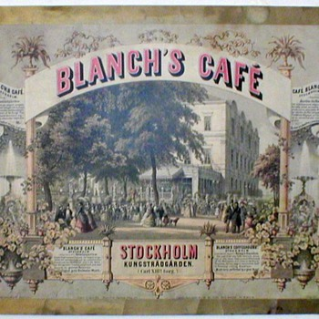 Blanche's Cafe Kungstradgarden Litho. - Posters and Prints