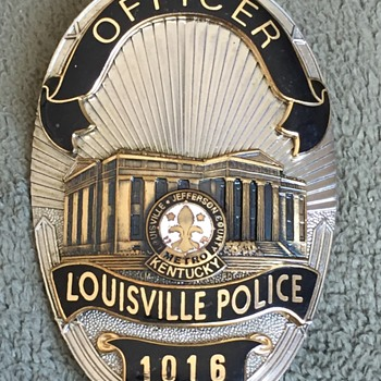Louisville Kentucky Metro Police Officer Badge