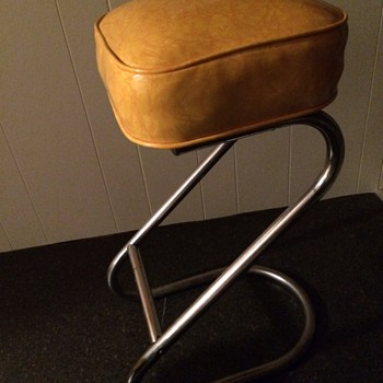Mid Century yellow Z stools