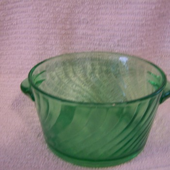 Small Dark Green Bowl - Glassware
