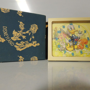 1950s DONALD DUCK ANIMATED CLOCK - Advertising