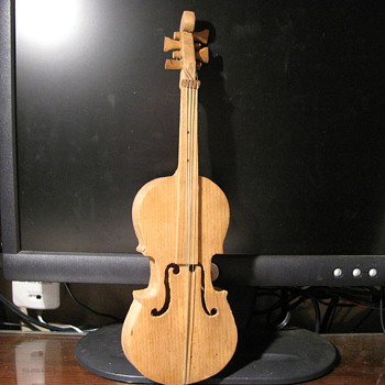 Hand Carved Wooden Fiddle