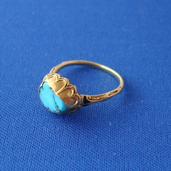 17th Century Gold Turquoise Ring