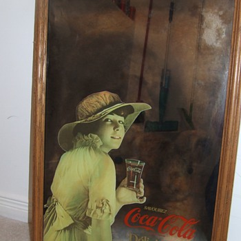 Antique frames from Europe, antique coca0cola mirrors and cooler - Coca-Cola